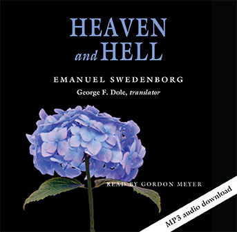 Cover of the Heaven and Hell audio book featuring a blue hydrangea flower.