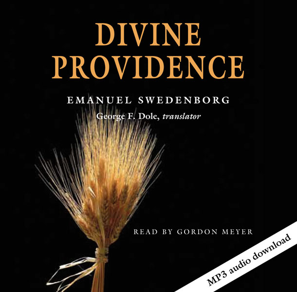 Cover of the Divine Providence audio book featuring a section of golden wheat.