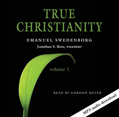 Cover of the True Christianity audio book featuring a green blade of grass.