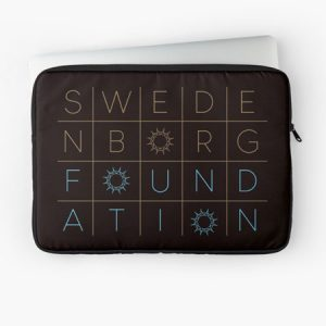 Black laptop case with Swedenborg Foundation logo