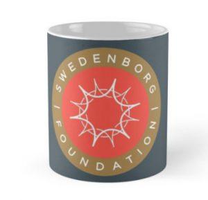 Mug with gold and orange Swedenborg Foundation emblem