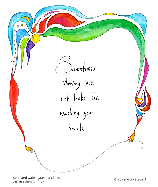 """Sometimes showing love just looks like washing your hands."""