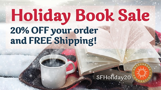 Holiday Book Sale: 20% off your order and free shipping. Photograph of an open book, and a steaming cup of coffee.